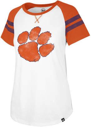 '47 Women's Clemson Tigers Fly Out Raglan T-Shirt