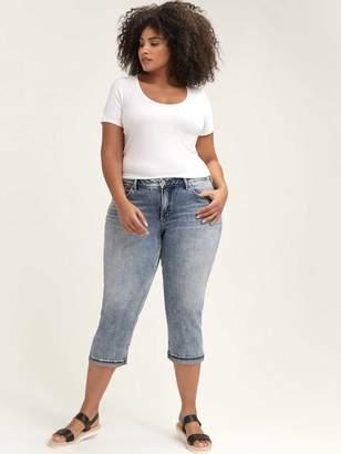Light Wash Suki Capri - Silver Jeans