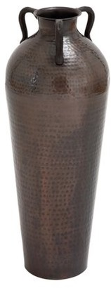 Benzara 26987 Metal Flower Vase With Antique And Durable Finish