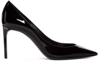 Saint Laurent Black Patent Zoe Heels