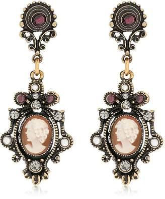 Alcozer & J Ladies Portrait Cameo Earrings