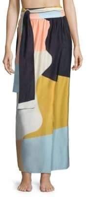 Mara Hoffman Cora Colorblock Wrap Skirt