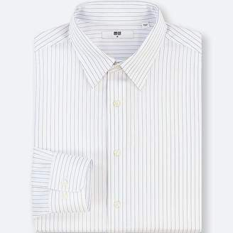 Uniqlo Men's Easy Care Striped Regular-fit Long-sleeve Shirt