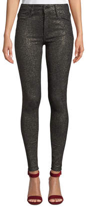 Black Orchid Jude Mid-Rise Metallic Ankle Skinny Jeans