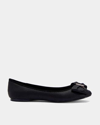 Ted Baker IMME4 Bow flat leather pumps
