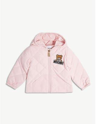 Moschino Bear logo padded hooded jacket 6-36 months