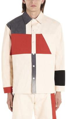 Diesel Red Tag Contrasting Panelled Shirt