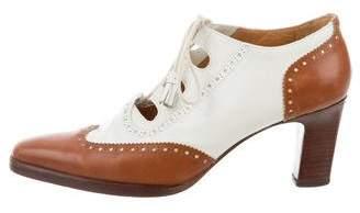 Ralph Lauren Leather Brogue Booties
