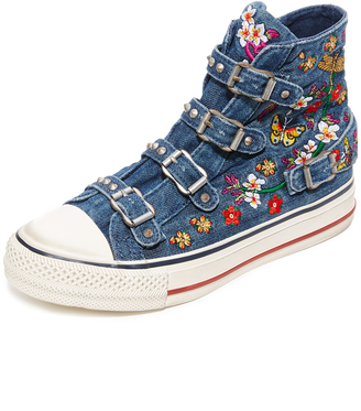 Ash Virtu Buckle High Top Sneakers $175 thestylecure.com