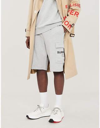 Burberry Ailford logo-print cotton-jersey shorts