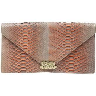 Christian Louboutin Orange Python Clutch Bag