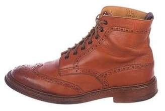 Tricker's Frederick Leather Semi-Brogue Ankle Boots