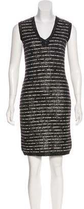 Chanel Metallic Sweater Dress