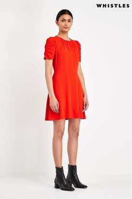 Whistles Womens Flame Flippy Dress - Red