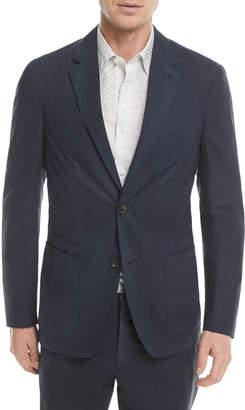 Ermenegildo Zegna Two-Button Stretch-Cotton Jacket