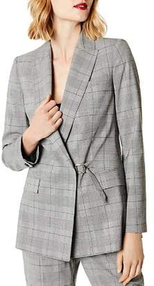 Karen Millen Relaxed Glen Plaid Blazer