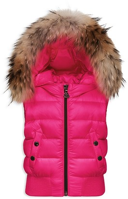 Moncler Girls' Kaila Puffer Vest - Sizes 8-14 $615 thestylecure.com