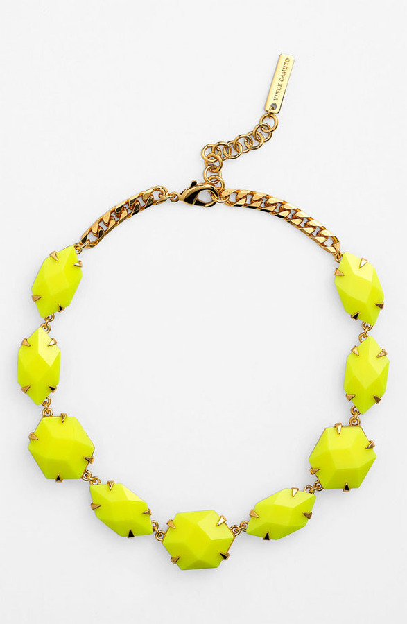Vince Camuto 'Bright Gems' Faceted Resin Collar Necklace