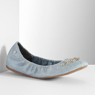 Simply Vera Vera Wang Women's Embellished Ballet Flats $59.99 thestylecure.com