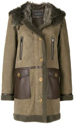 Cara Mila Kiera shearling coat