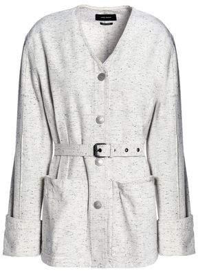 Isabel Marant Belted Marled Denim Jacket
