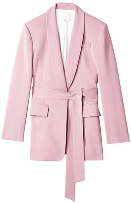 Tibi Oversized Tuxedo Blazer with Removable Belt in Pink Lilac
