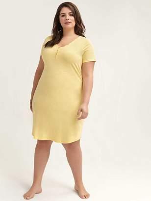 Solid Short Sleeve Nightdress - ti Voglio