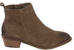 EOS NEW Womens Boots Togs Nubuck Ankle Boot Taupe