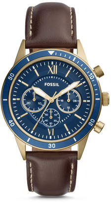 Fossil Flynn Sport Chronograph Brown Leather Watch