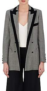 BLAZÉ MILANO Women's Everyday Checked Wool Double-Breasted Blazer - Gray