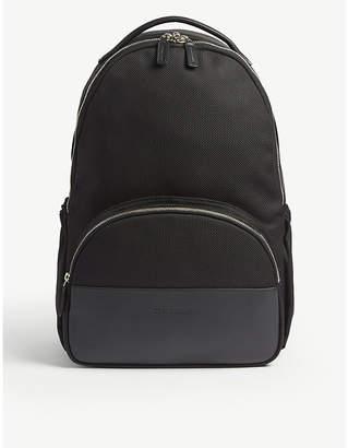 Corneliani Nylon and leather backpack
