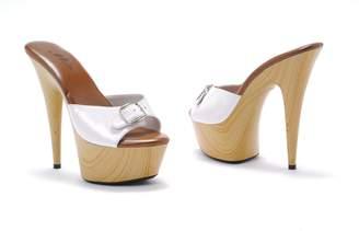 "Ellie Shoes 609-BARBARA, Color: , Women's US Size / 6"" Pointed Heel Mule W/Buckle."