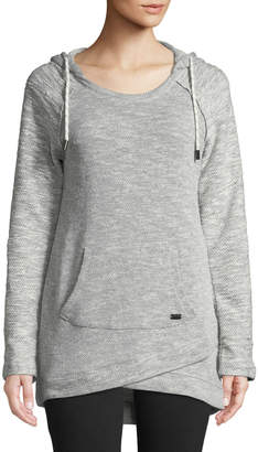 Marc Ny Performance Heritage Loop Terry Roll-Sleeve Hoodie Tunic