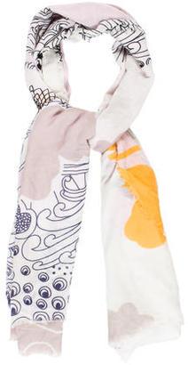 Diane von Furstenberg Cambell Printed Scarf $80 thestylecure.com