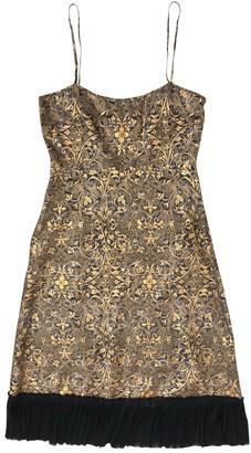 Tocca Gold Silk Dress for Women