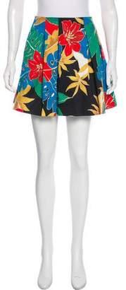 Alice + Olivia Printed Mini Skirt w/ Tags