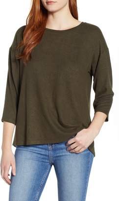 Bobeau Pleat Back Pullover