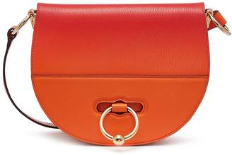 J.W.Anderson 'Latch' barbell ring ombré leather crossbody bag