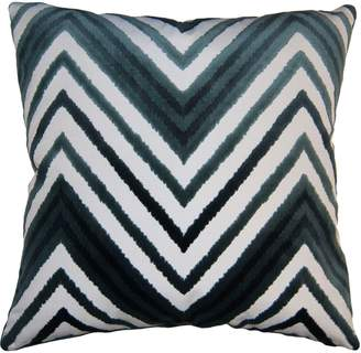 Square Feathers Sky Chevron Accent Pillow