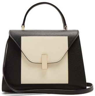 Valextra Iside Medium Grained Leather Bag - Womens - White Black