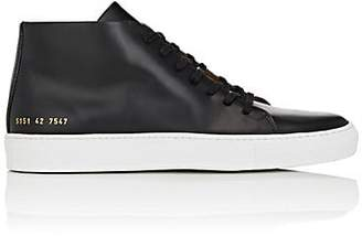 Common Projects Men's New Court Spazzolato Leather Sneakers - Black