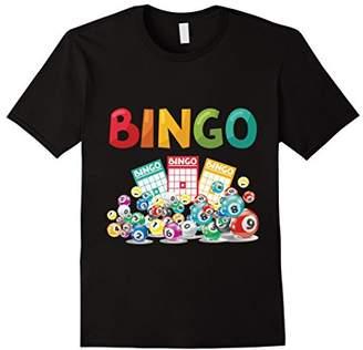 Bingo - Bingo Cards Lettering Lucky Gambling T-Shirt