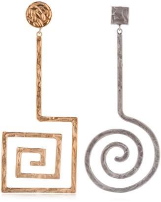 La Spirale Brass Earrings