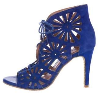 Joie Suede Laser-Cut Sandals Suede Laser-Cut Sandals