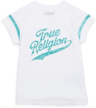 True Religion Little Girl's Graphic V-Neck Cotton Tee