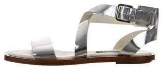 Ralph Lauren Metallic Ankle Strap Sandals