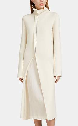 Jil Sander Women's Rib-Knit Wool Turtleneck Midi-Dress - Cream