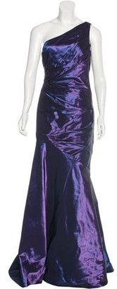 Carmen Marc Valvo One-Shoulder Evening Gown $230 thestylecure.com