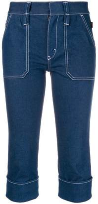 Chloé stretch denim cropped trousers