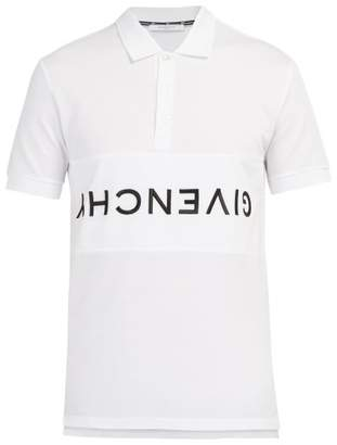 Givenchy Logo Embroidered Cotton Pique Polo Shirt - Mens - White